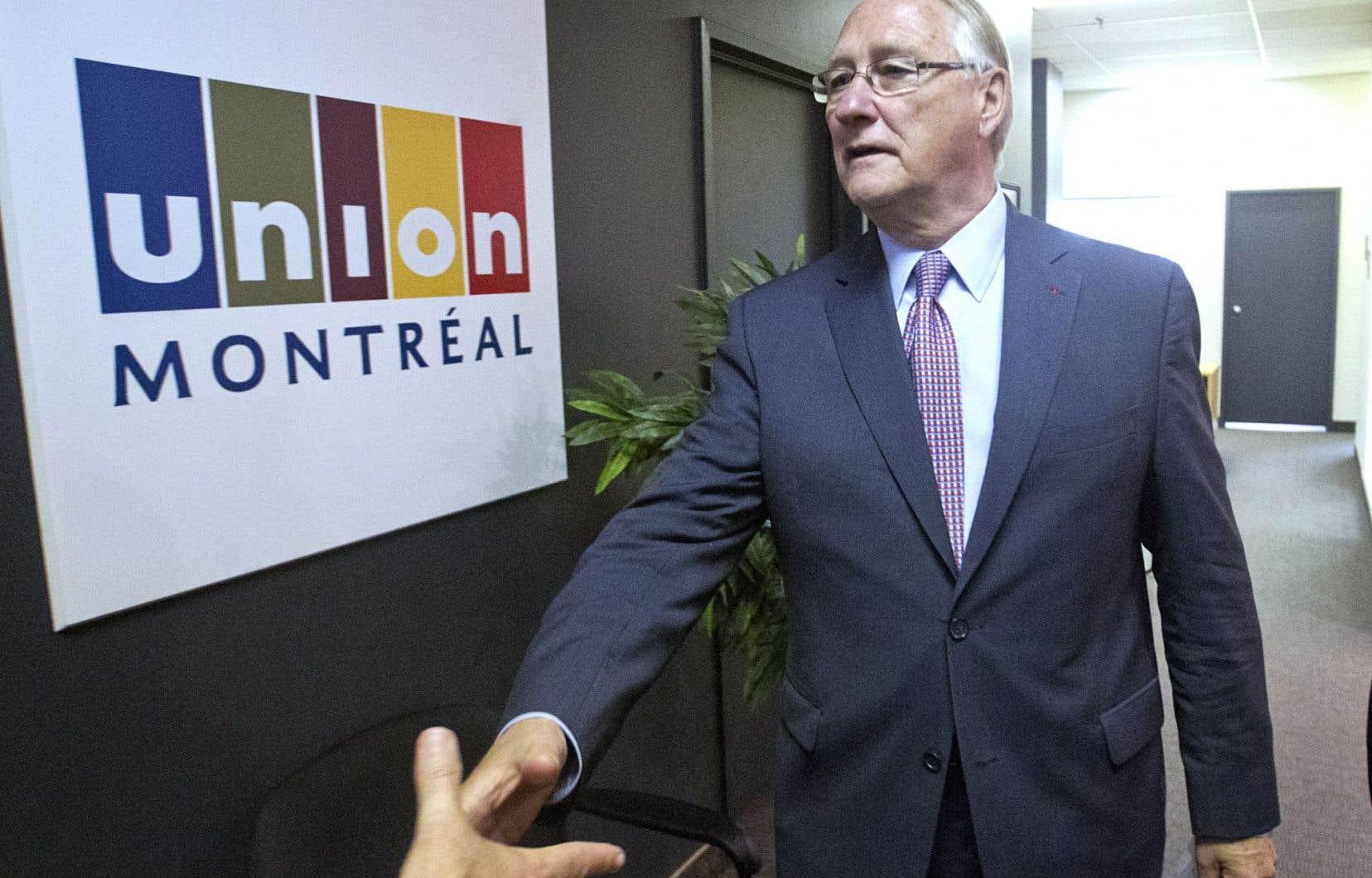 Des 645000$ qui garnissaient les coffres d'Union Montréal, le parti de Gérald Tremblay, en 2012, il ne reste plus que 12448$.