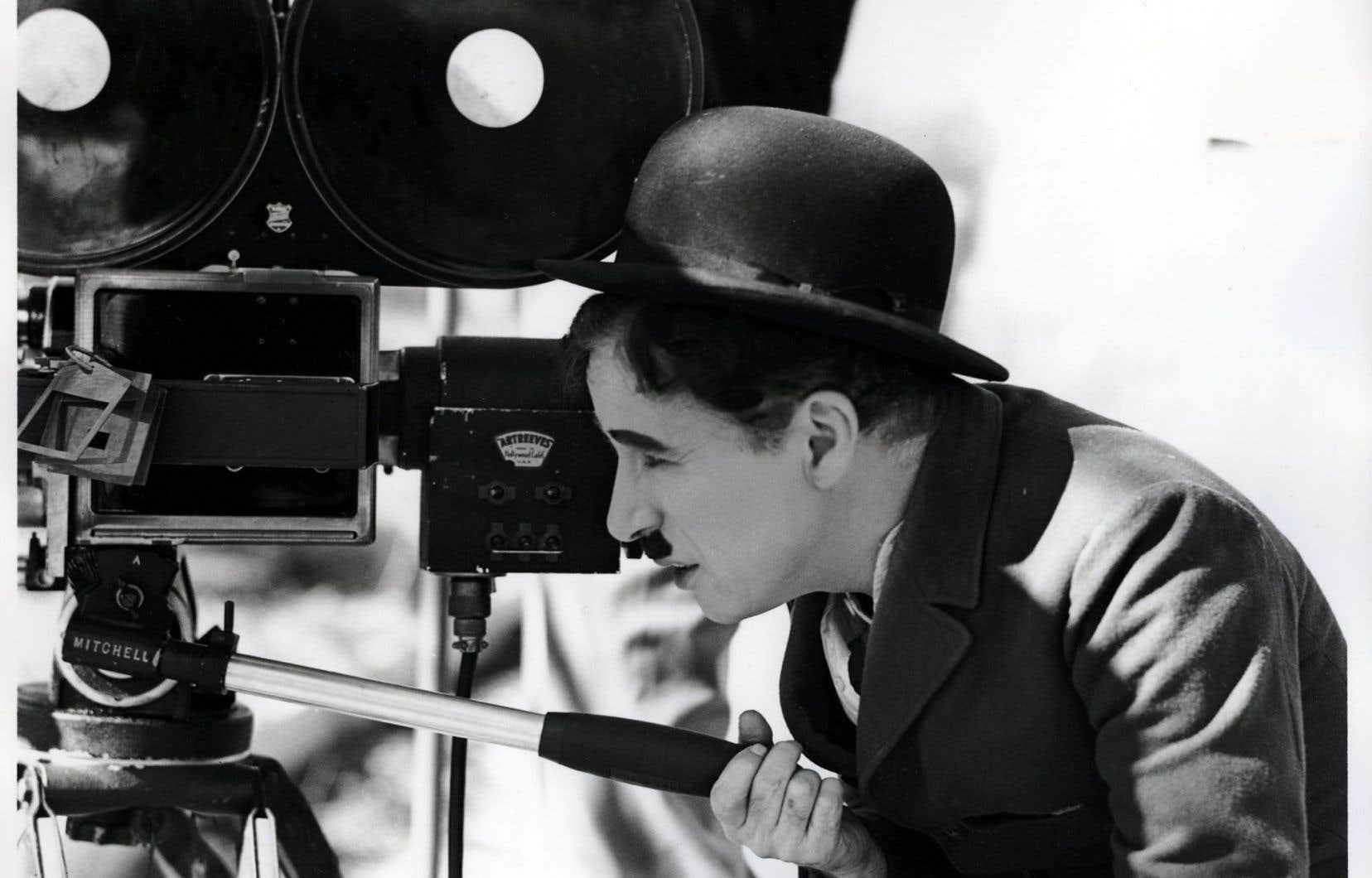 Charlie Chaplin sur le plateau de tournage de «Modern Times»