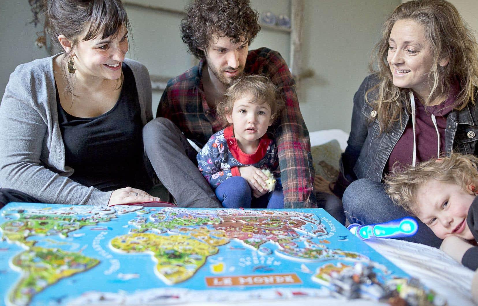 Maude, Philippe et Rafaëlle parrainent une famille d'Alep, en Syrie.