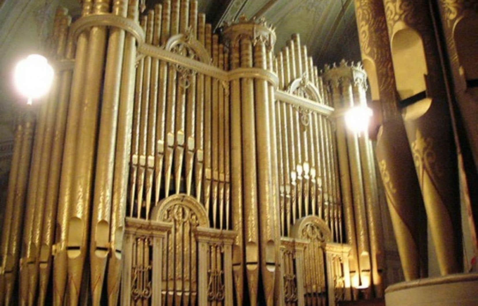 Sur la photo un des intruments célèbres de la Maison Casavant, l'orgue de l'église Très-Saint-Nom-de-Jésus à Montréal