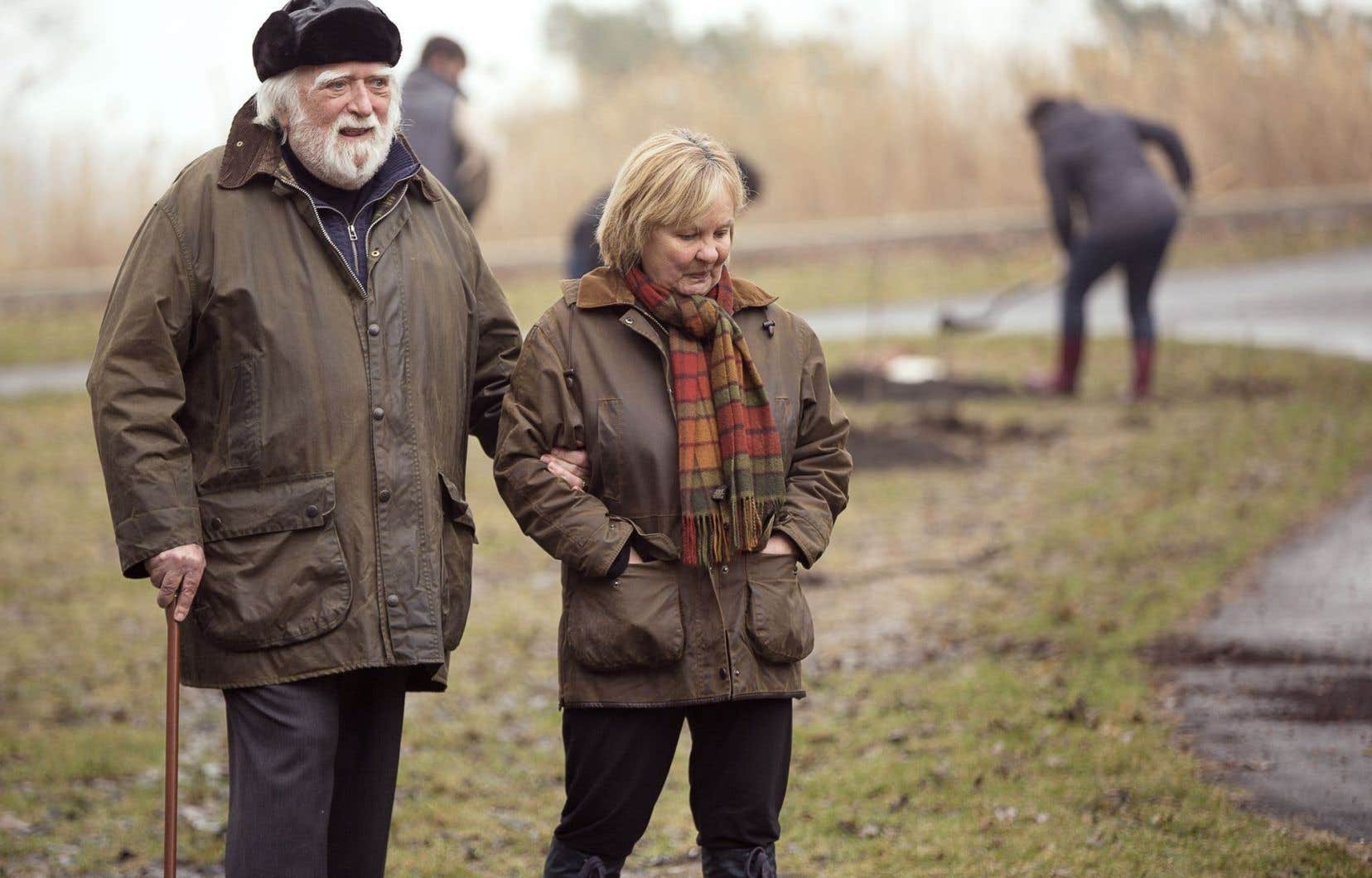 Jacques Languirand et son épouse Nicole Dumais lors du Jour de la Terre en avril 2014