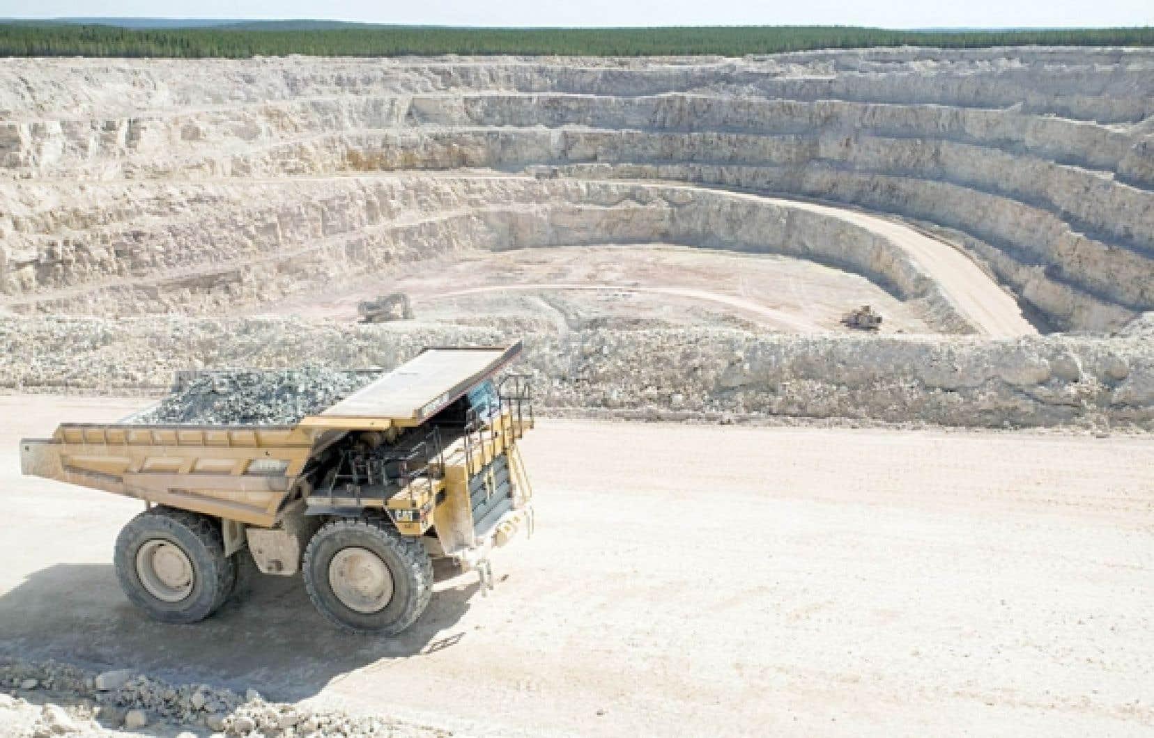 Mine à ciel ouvert d'uranium en Saskatchewan