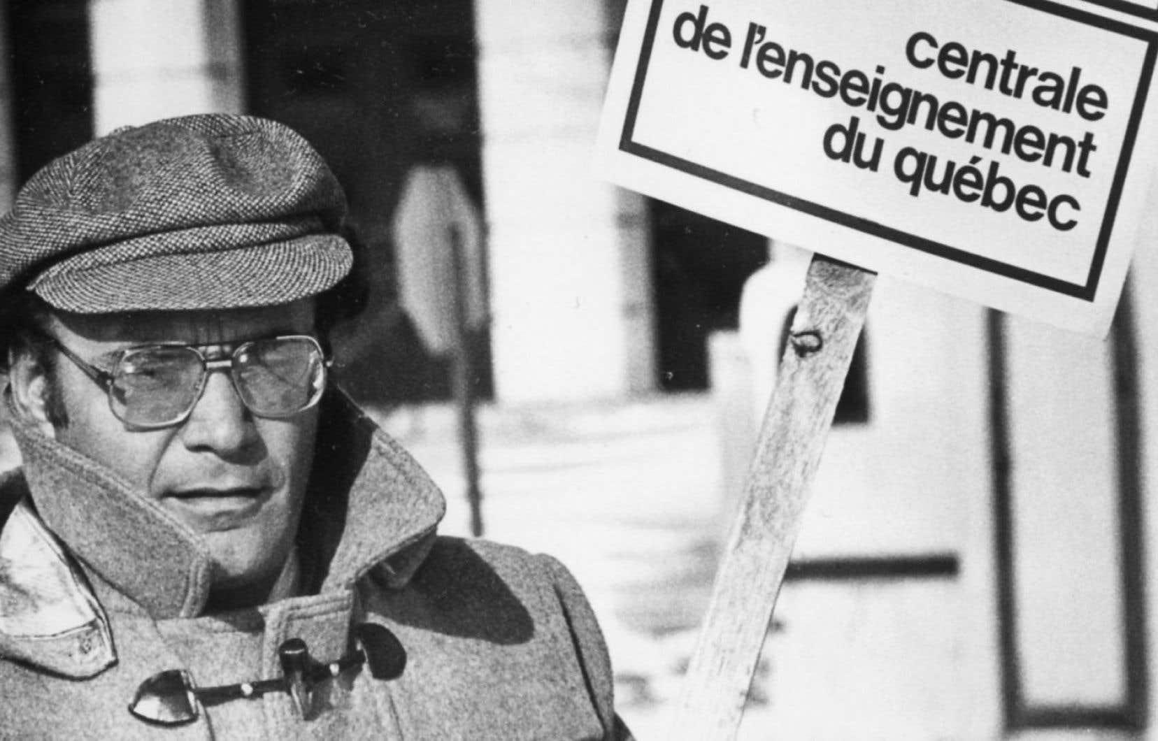 Yvon Charbonneau en 1983, alors qu'il dirigeait la Centrale de l'enseignement du Québec.