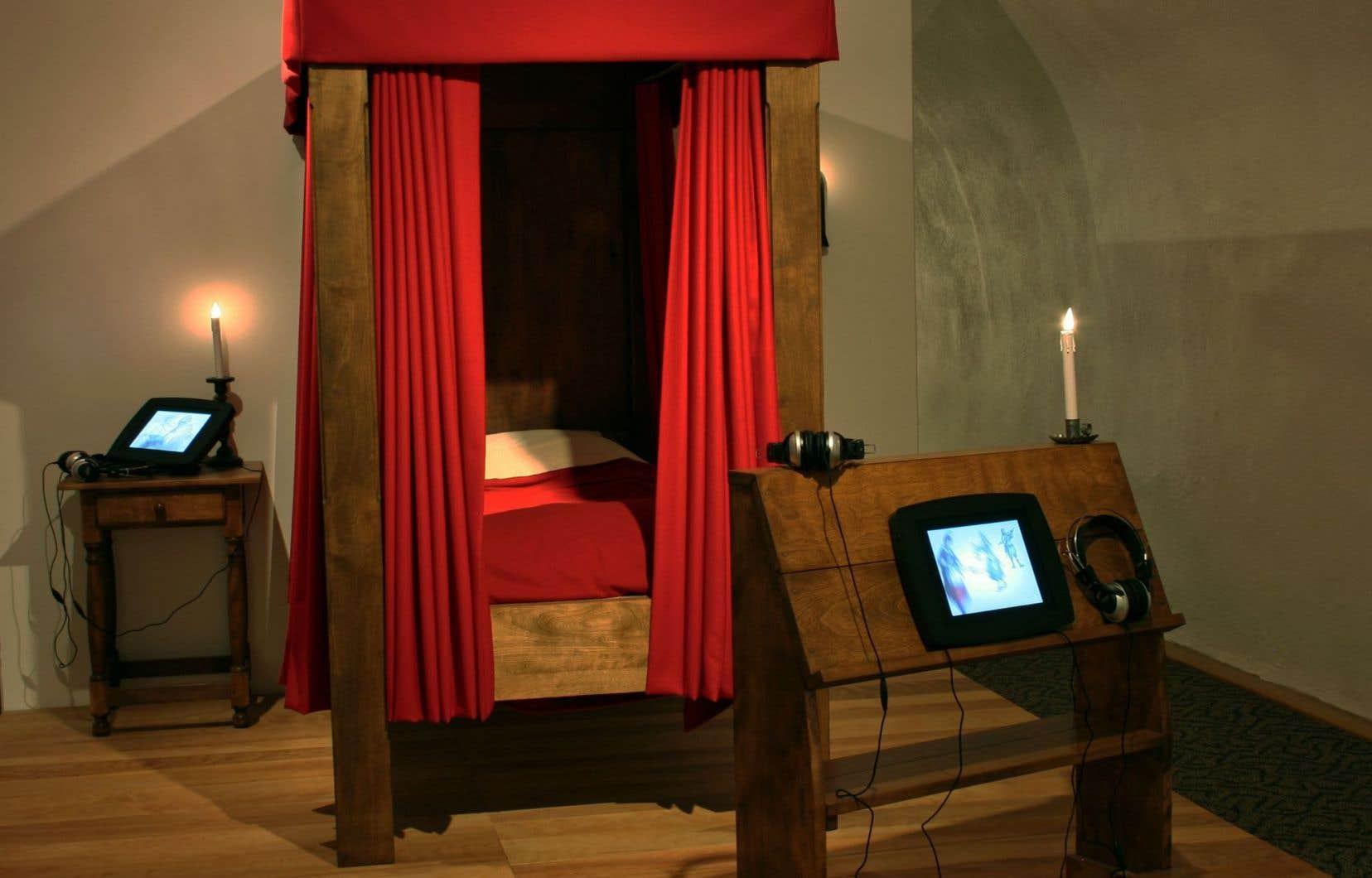Le lit de mort de M.Claude de Ramezay, mort à l'Hôtel-Dieu de Québec en 1724