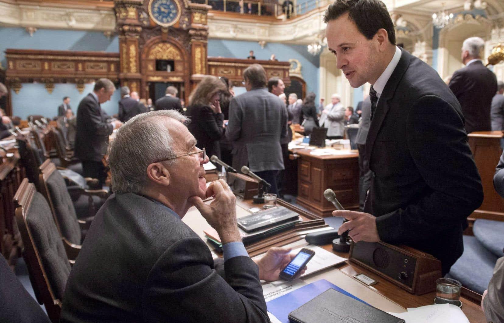 Alexandre Cloutier peut compter sur le doyen des députés à l'Assemblée nationale, François Gendron.