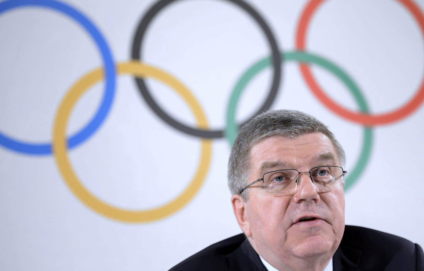Le président du Comité international olympique, Thomas Bach
