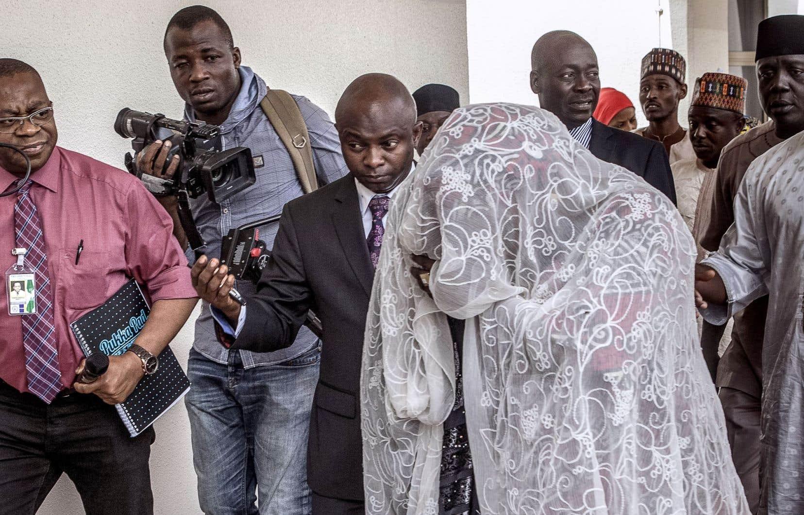 Amina Ali lors de son arrivée à Abuja