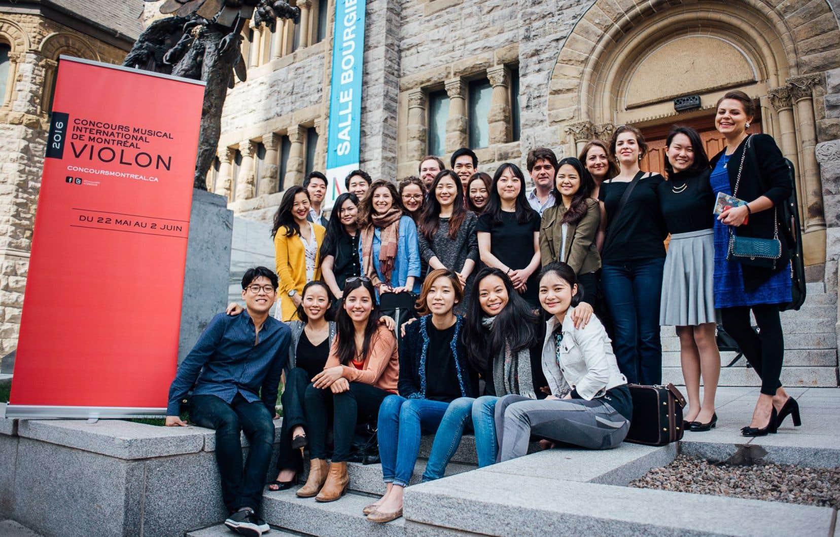 Les participants au 15eConcours musical international de Montréal