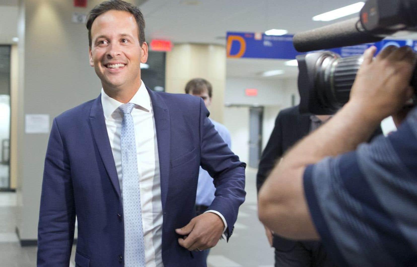 Le candidat à la course à la chefferie du Parti québécois, Alexandre Cloutier