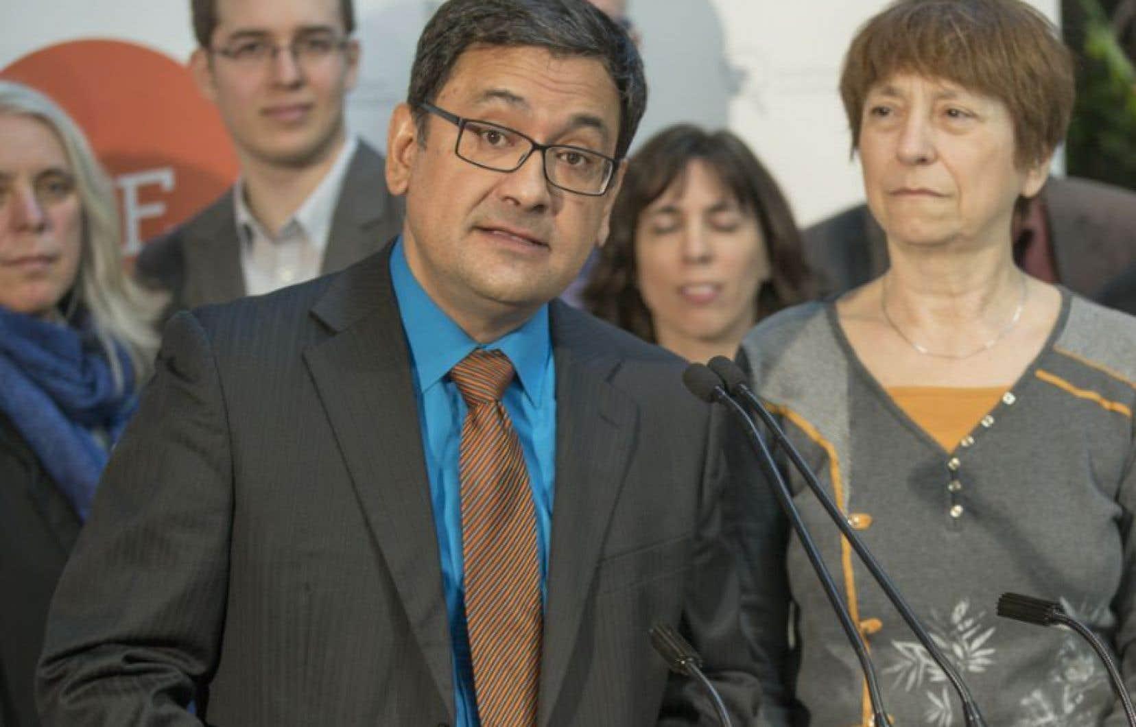 Le président de Québec solidaire, Andres Fontecilla