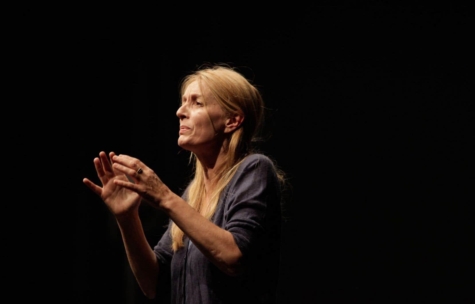 La comédienne Daria Deflorian dans la pièce de théâtre «Reality»