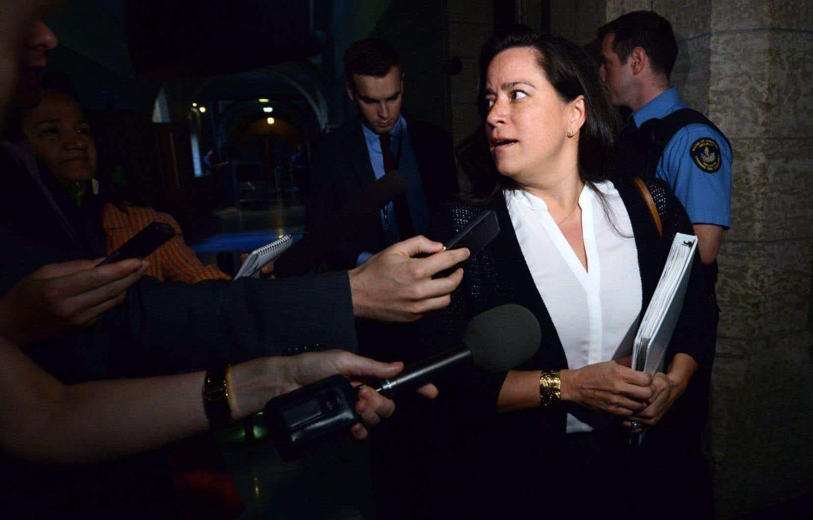 La ministre de la Justice et procureure générale du Canada, Jody Wilson-Raybould