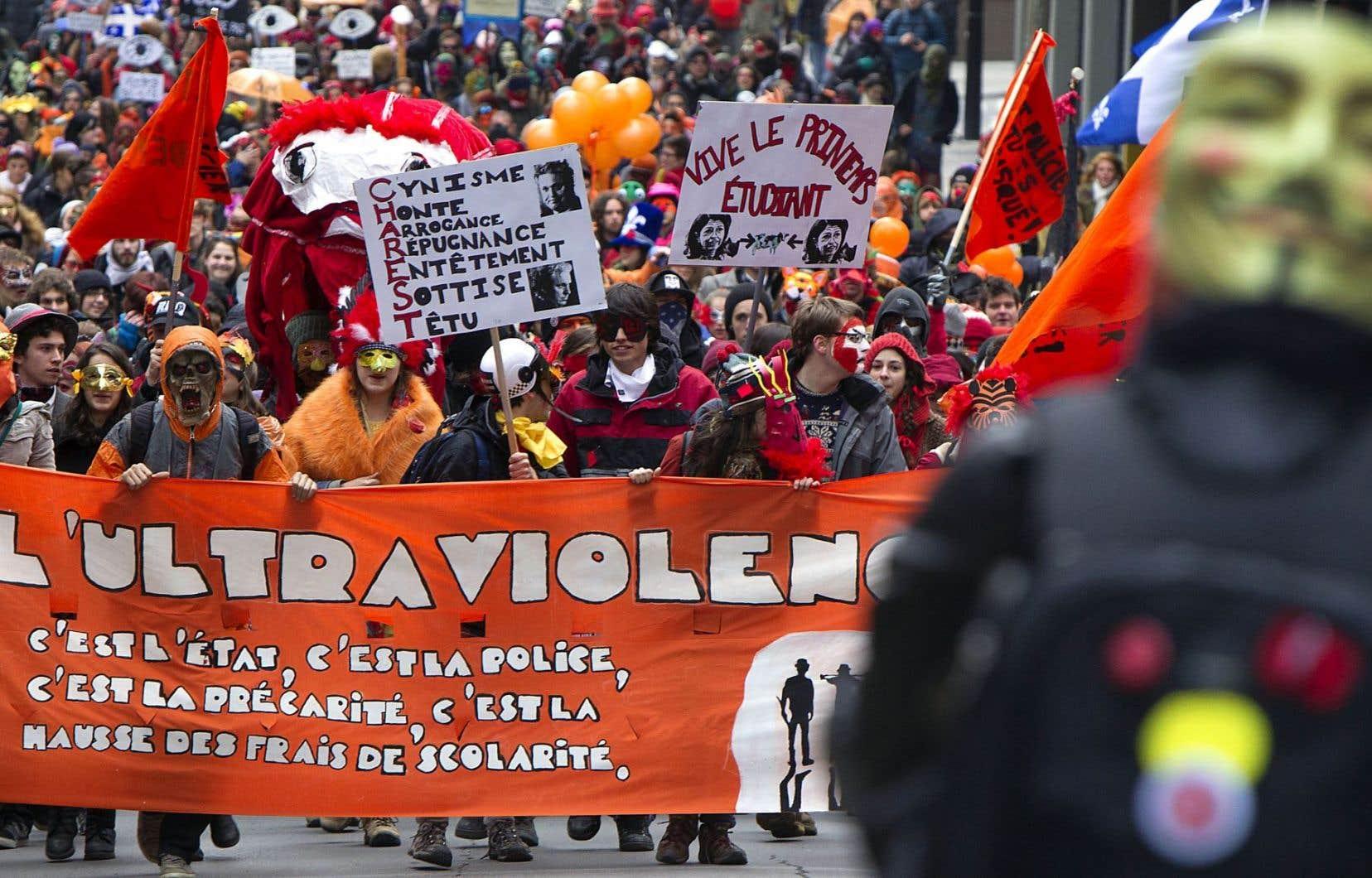Montréal n'a pas échappé aux mouvements de protestation lors du printemps érable