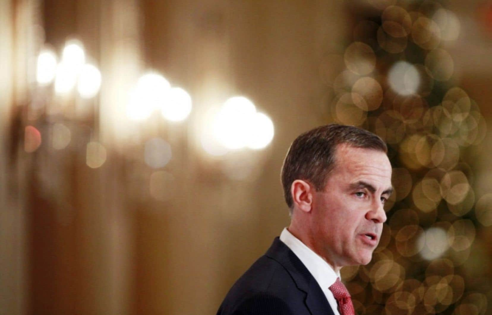 Le gouverneur de la Banque du Canada, Mark Carney, prononçait hier une allocution devant le National Forum.