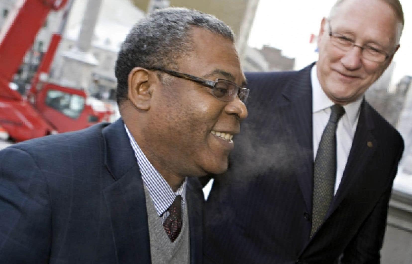 Plus tôt dans la journée d'hier, le premier ministre d'Haïti, Jean-Max Bellerive, avait rencontré le maire Gérald Tremblay.