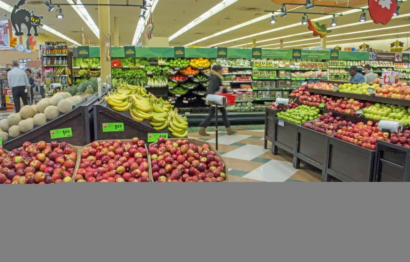 Environ un quart des répondants ont déclaré avoir mangé moins de fruits et de légumes au cours des 12 derniers mois.