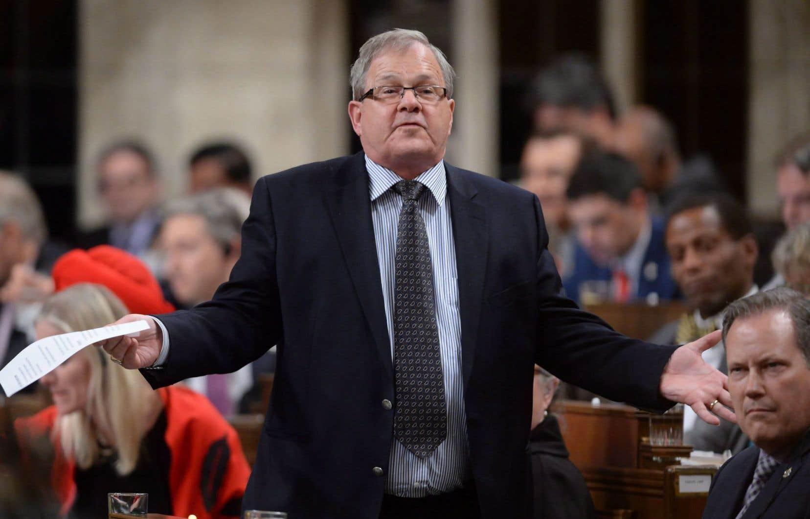 Le ministre canadien de l'Agriculture, Lawrence MacAulay
