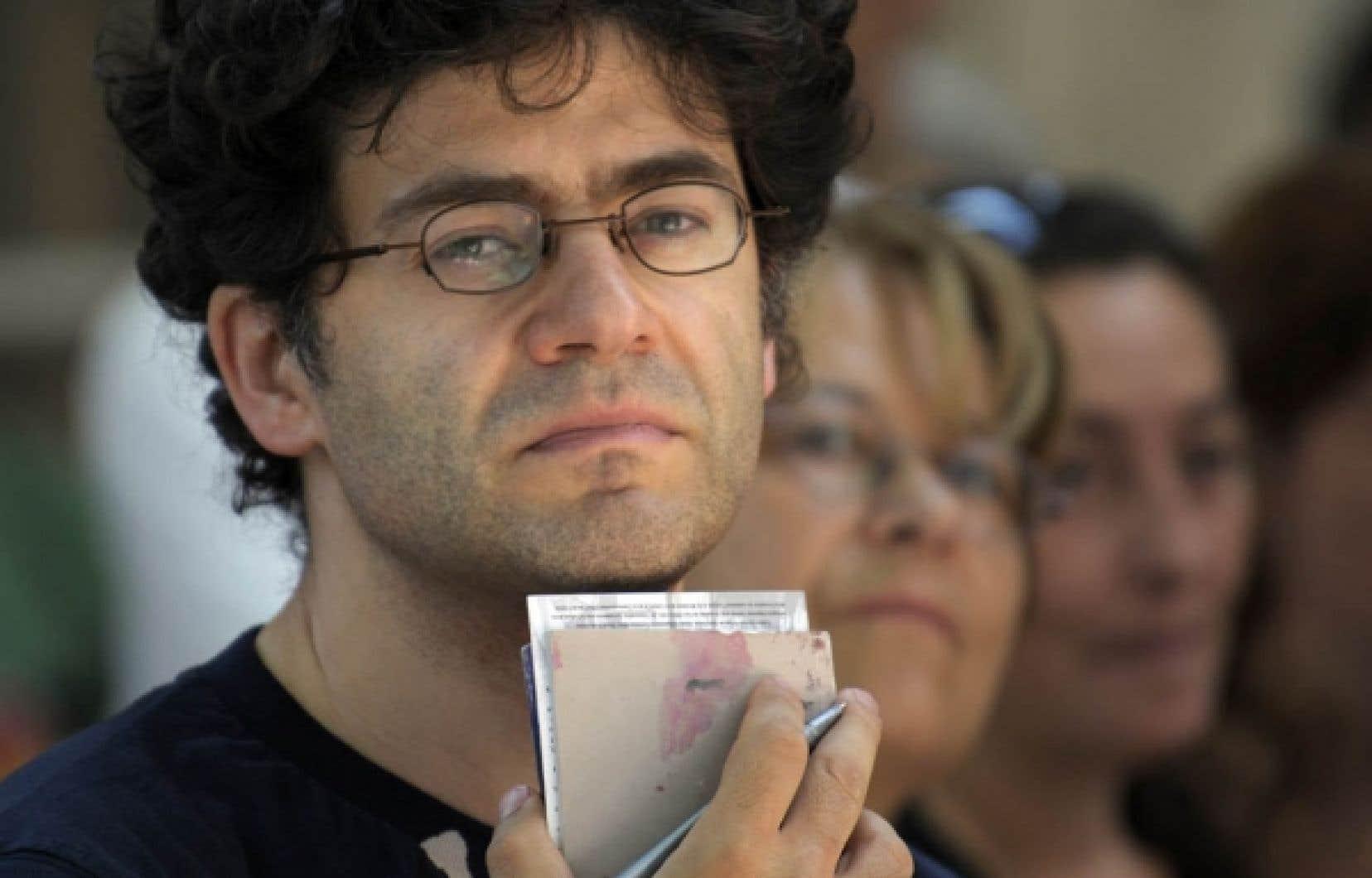 À Lyon, le dramaturge Wajdi Mouawad a répondu aux questions d'étudiants, à la demande de la section Arts de l'École normale supérieure.