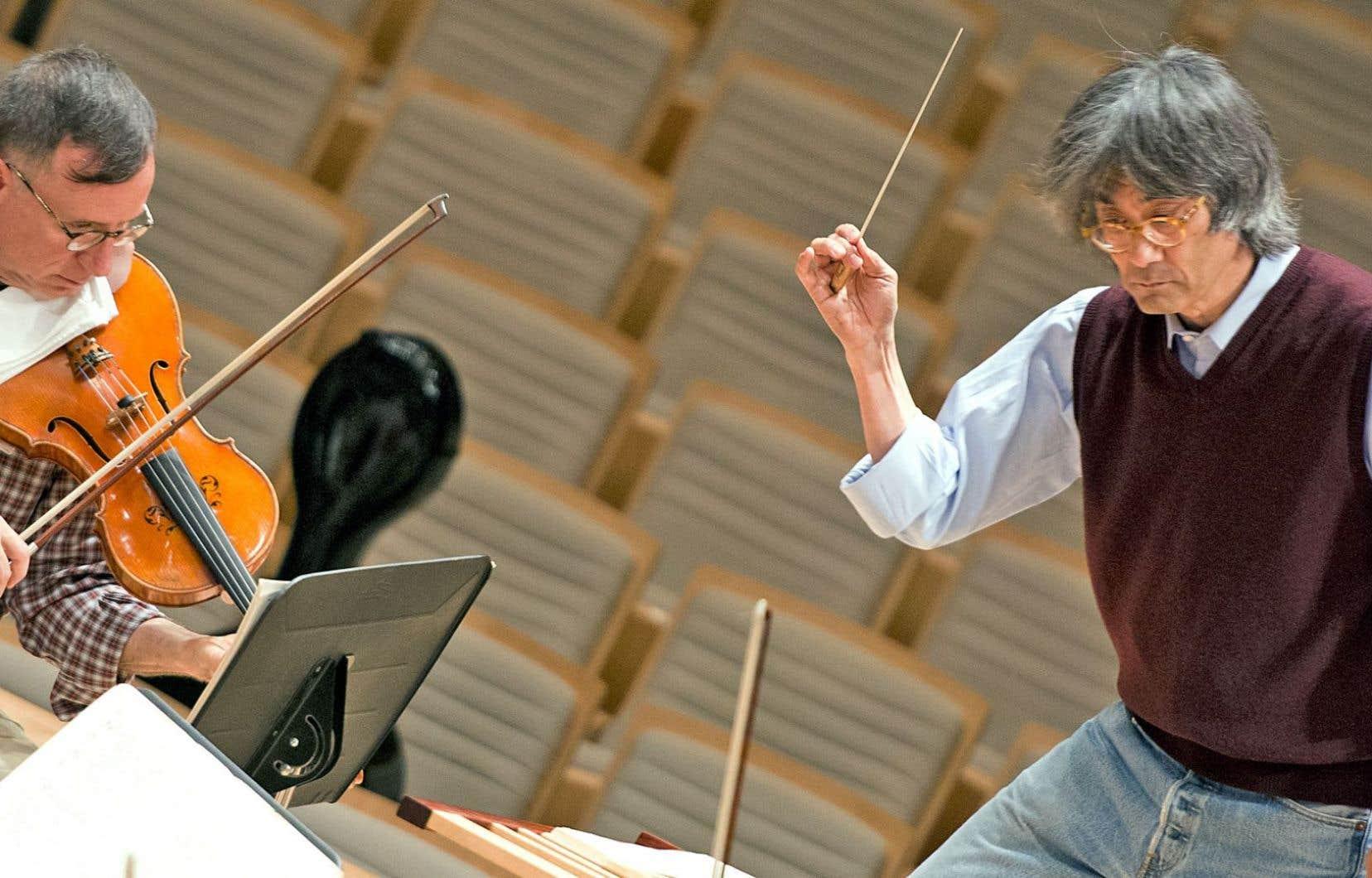 La politique culturelle qui régit nos différentes institutions date de 1992, c'est-à-dire bien avant le règne d'Internet. Ci-dessus, le chef Kent Nagano en répétition avec l'Orchestre symphonique de Montréal.
