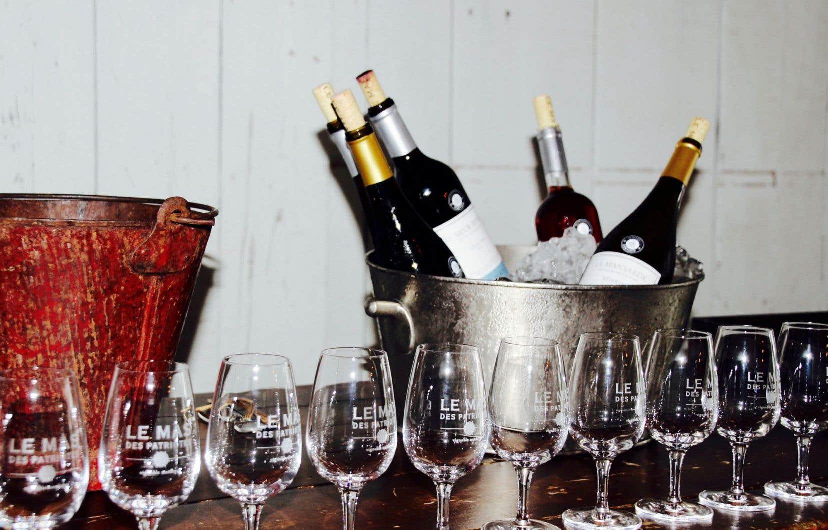 Le Mas des patriotes, à Saint-Jean-sur-Richelieu, produit annuellement quelque 13000 bouteilles de vin.
