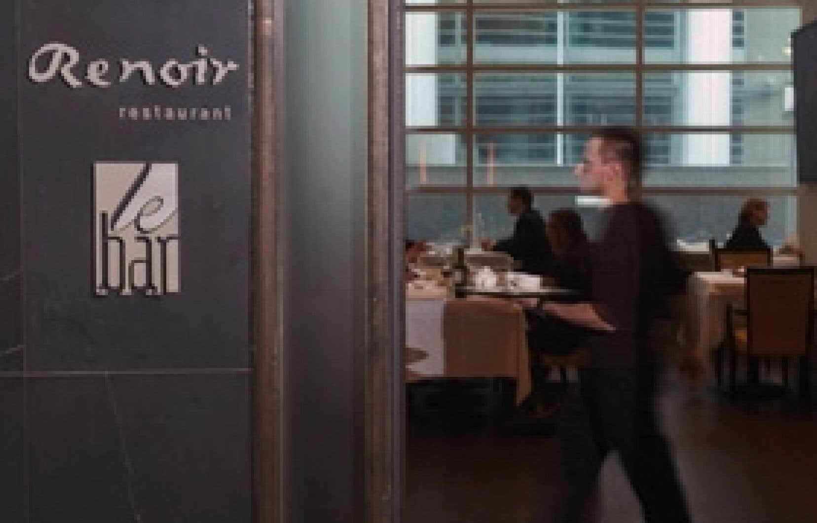 Bar du restaurant Au Renoir de l'hôtel Sofitel; ses 5 à 8 sont un must.