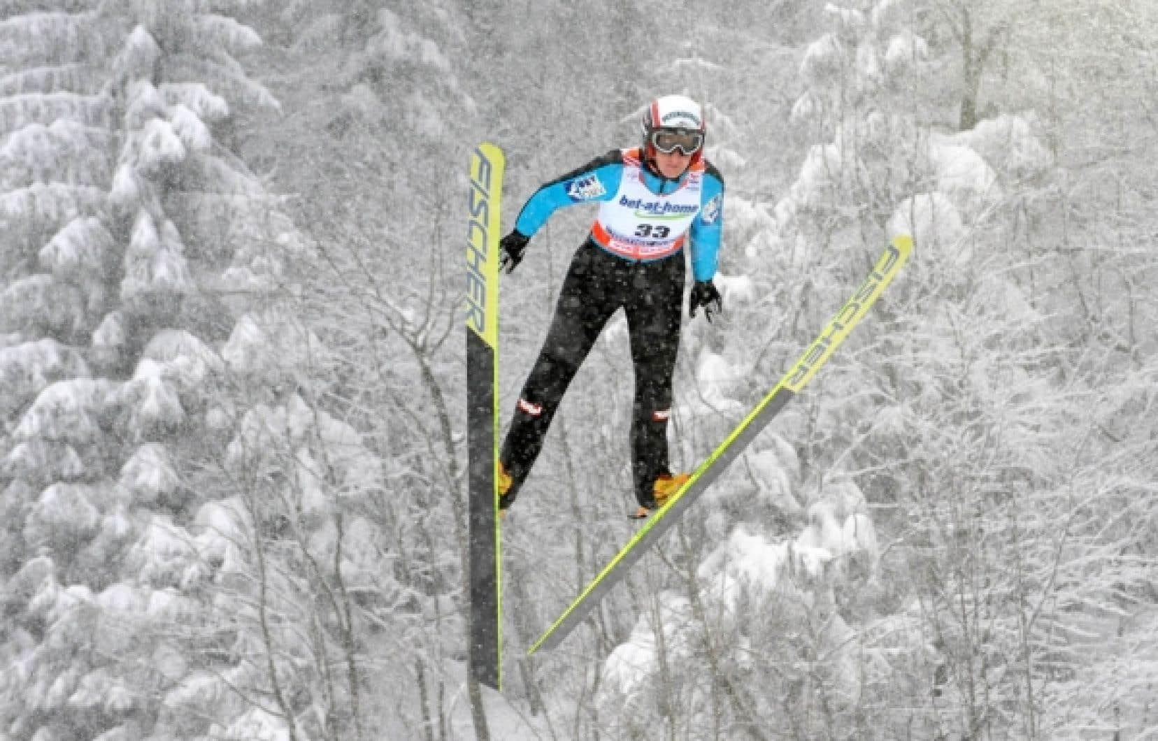 L'Autrichienne Daniela Iraschko en compétition à Liberec, en République tchèque, en février.