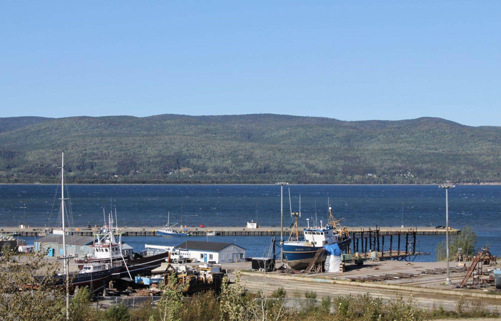 Le projet de zone industrialo-portuaire pourrait permettre de développer le secteur de Sandy Beach, à Gaspé.