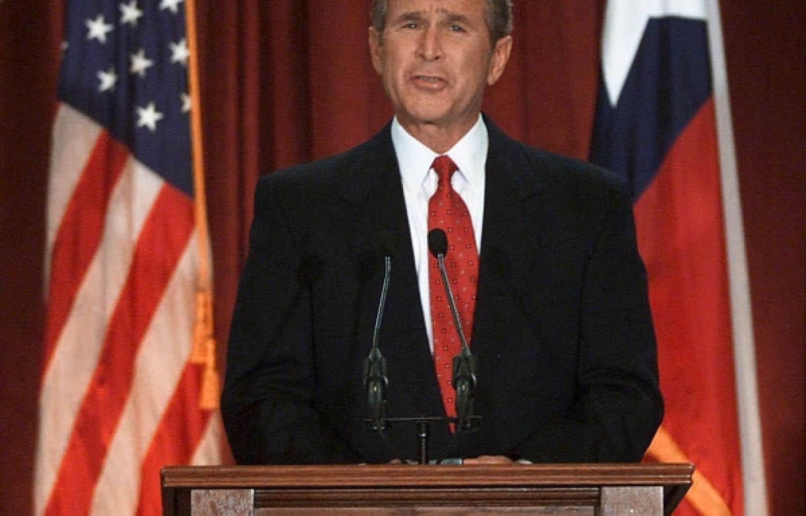 Un des premiers discours du nouveau président américain, le 13 décembre 2000
