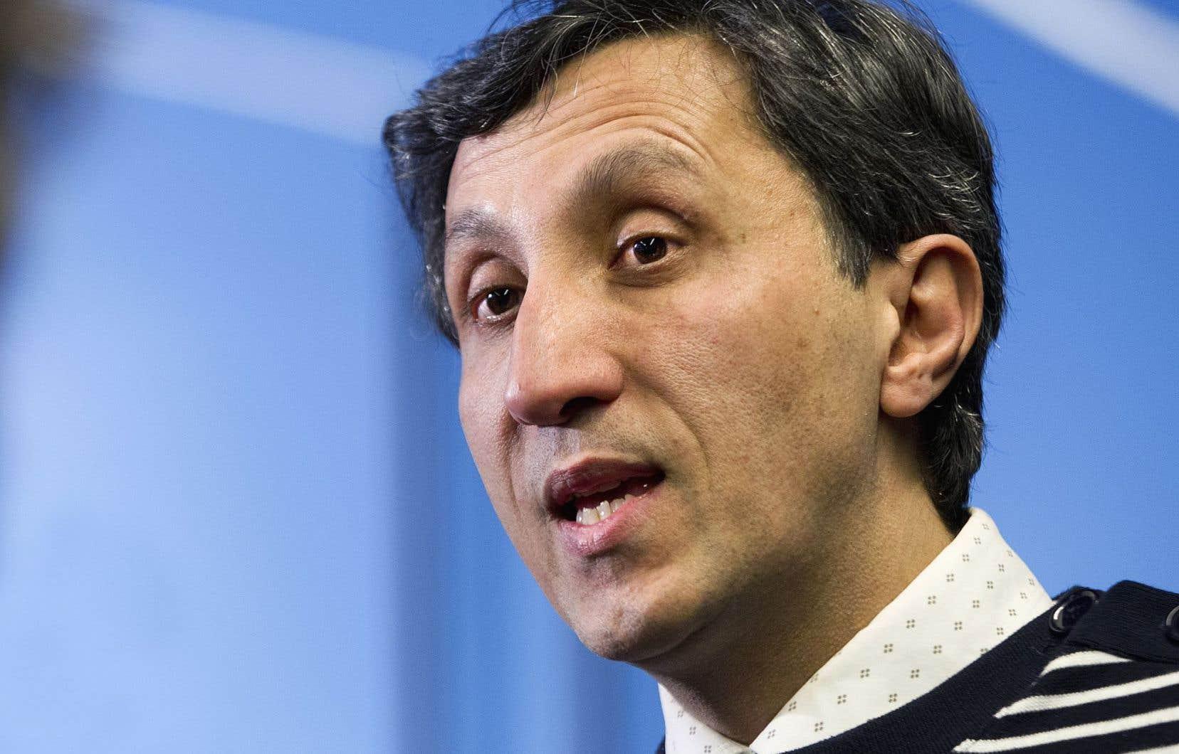 Le député solidaire Amir Khadir