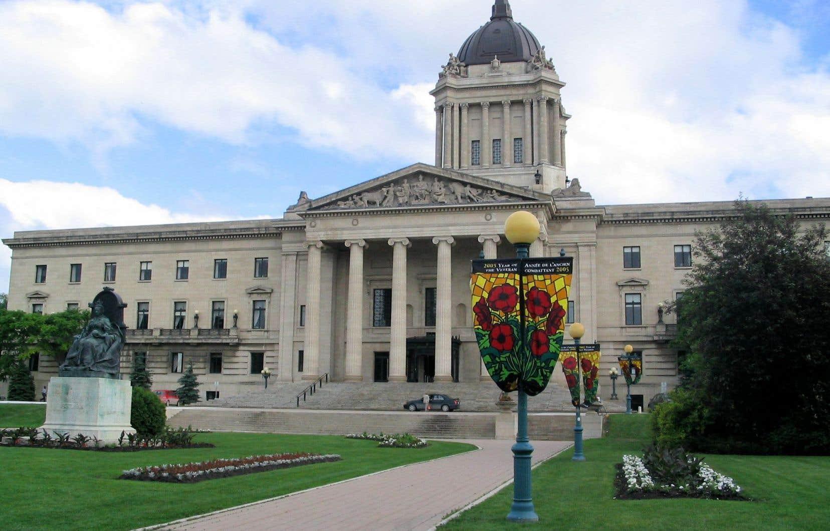 Le Palais législatif du Manitoba, situé à Winnipeg