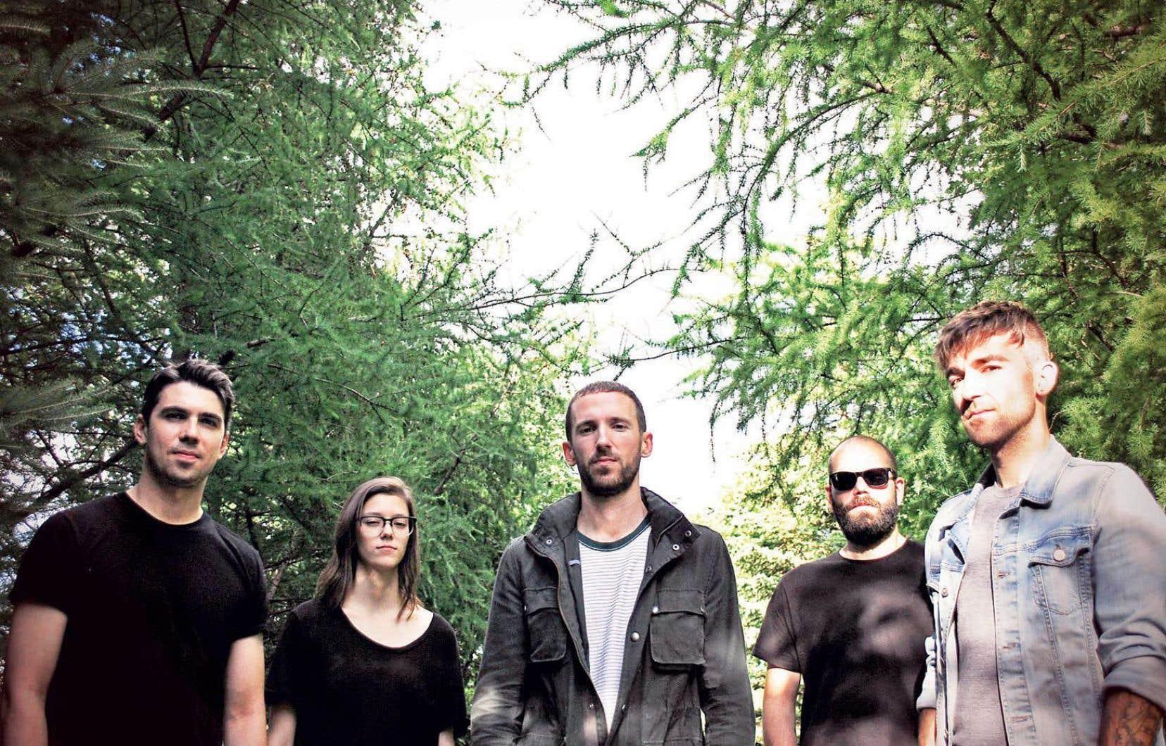Les cinq membres du groupe Los