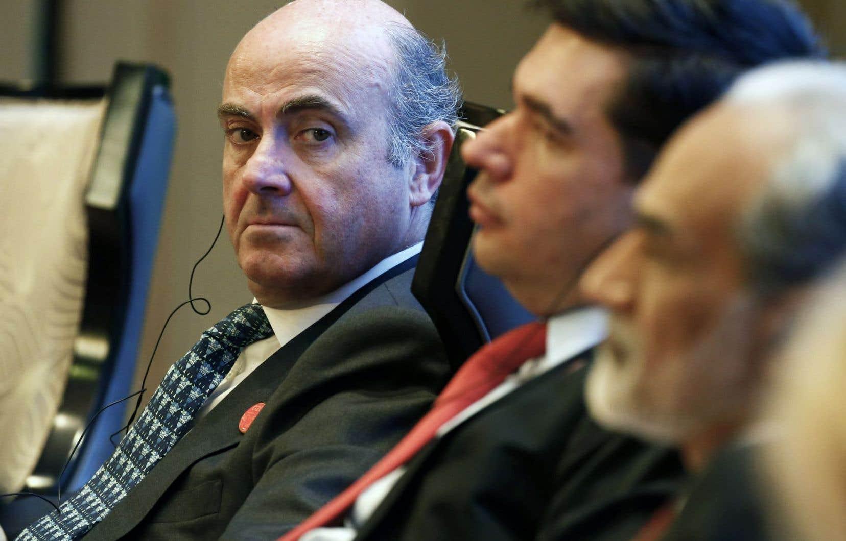 Le ministre espagnol de l'Économie, Luis de Guindos