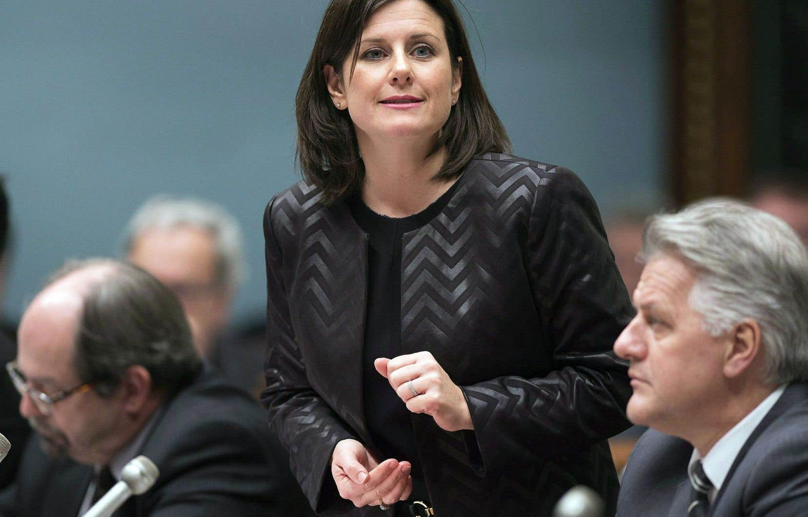 La ministre de la Justice Stéphanie Vallée