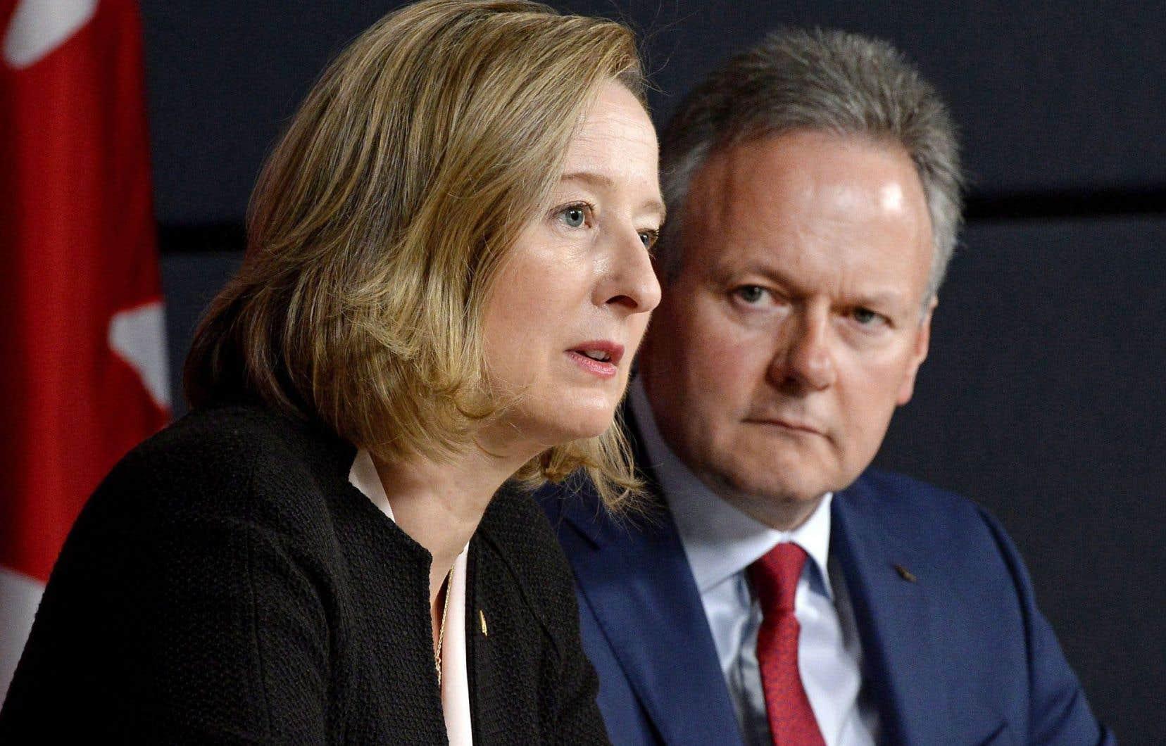 Le gouverneur et la première sous-gouverneure de la Banque du Canada, Stephen Poloz et Carolyn Wilson.