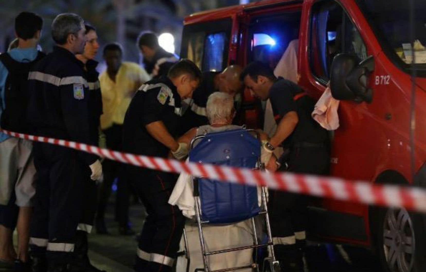 Un blessé pris en charge par les pompiers à Nice