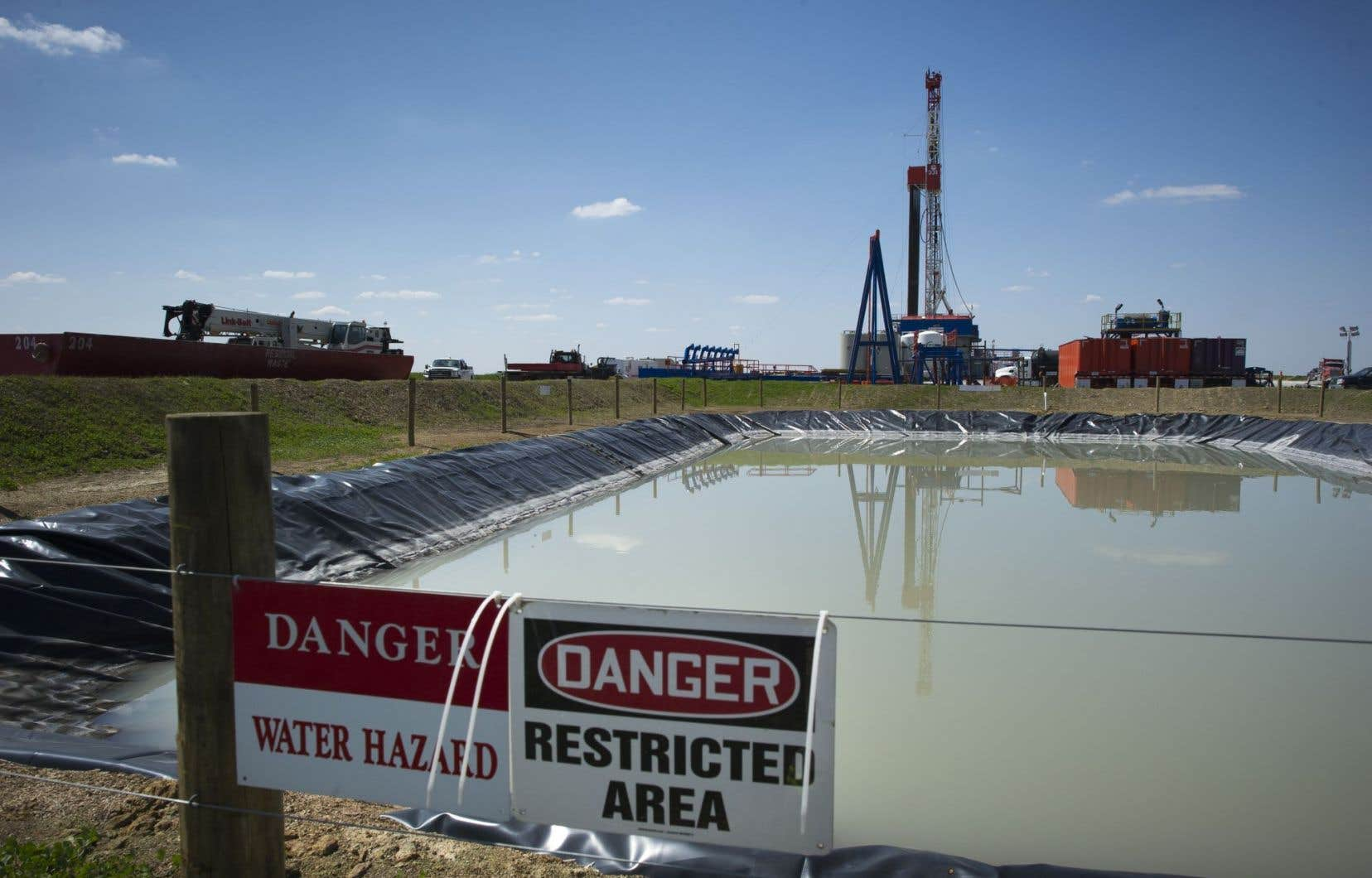 Un puits de gaz de schiste près de Waynesburg, en Pennsylvanie