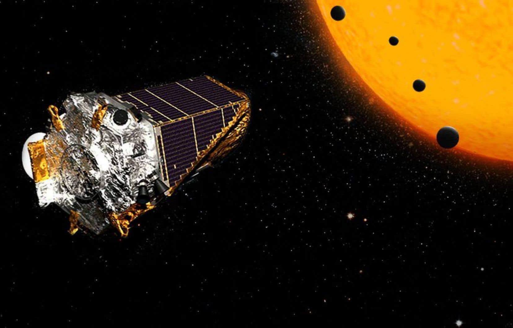 Les quatre planètes découvertes en orbite autour d'une même étoile sont apparemment rocheuses et entre 20 à 50% plus grandes que la Terre.
