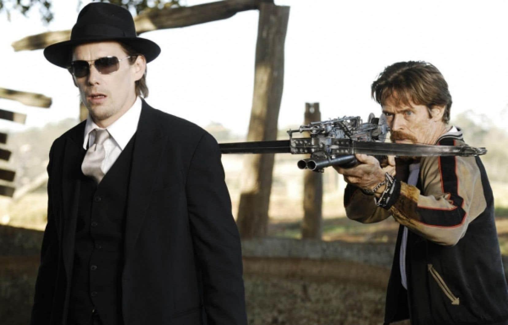 Ethan Hawke et Willem Dafoe dans Daybreakers, des frères Michael et Peter Spierig