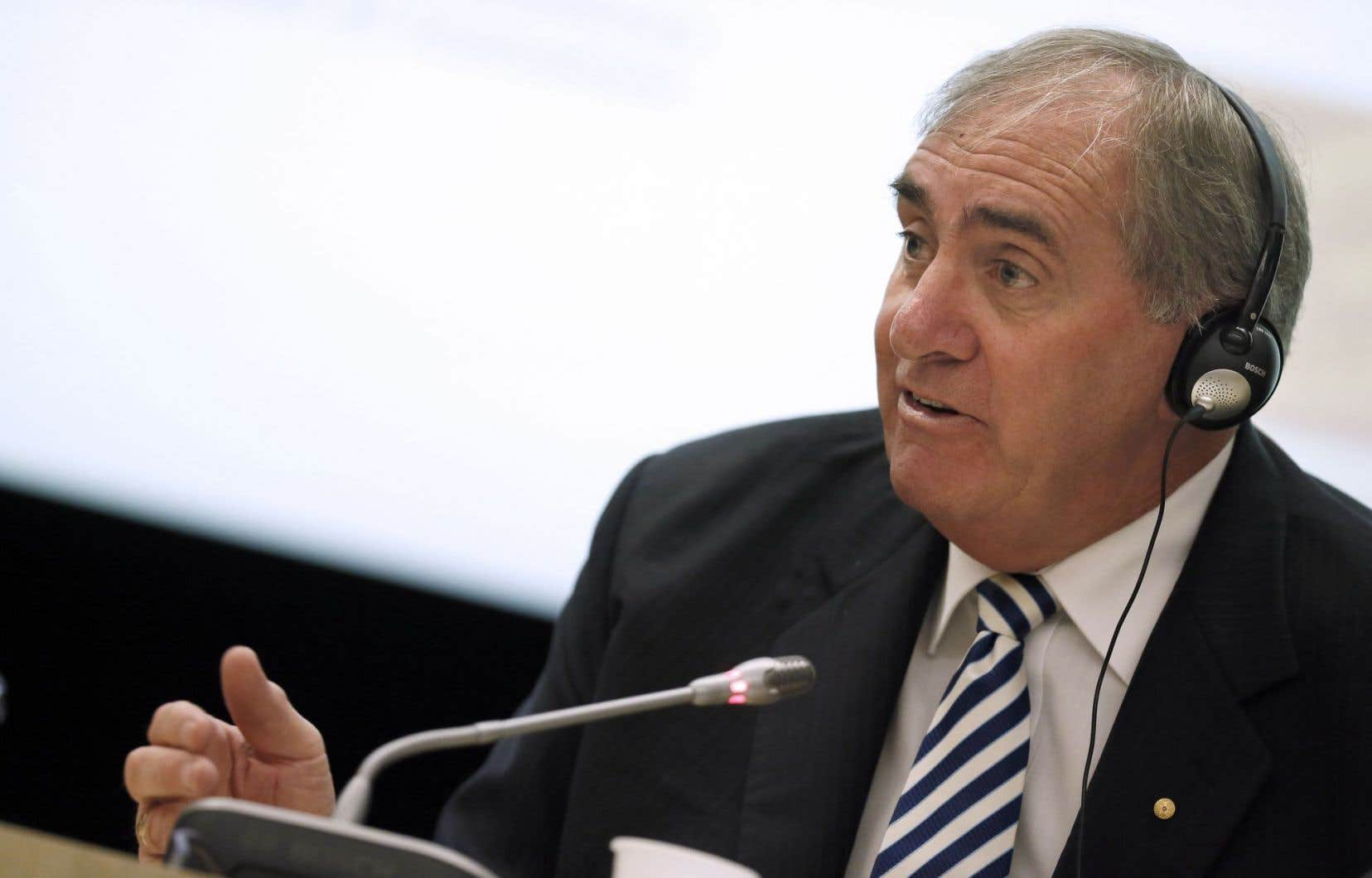 L'ancien président de l'Agence mondiale antidopage John Fahey