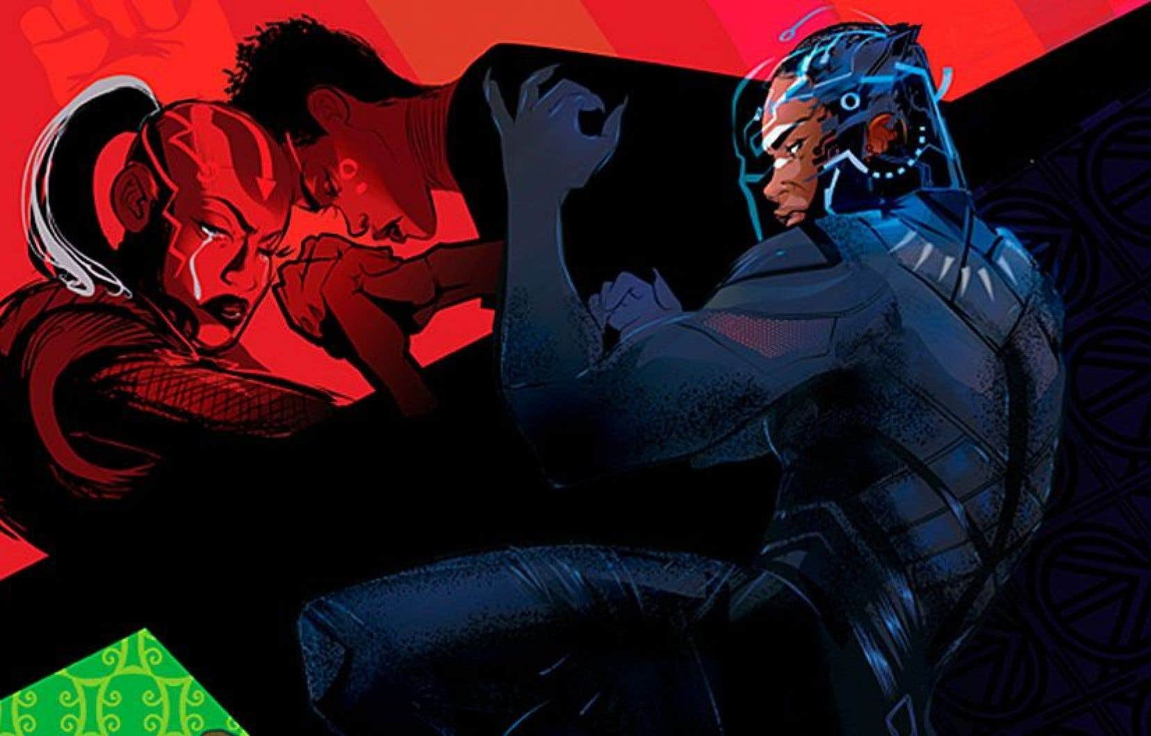 Visuel tiré de «Black Panther: World of Wakanda», illustré par Afua Richardson. Le premier numéro doit paraître aux États-Unis en novembre.