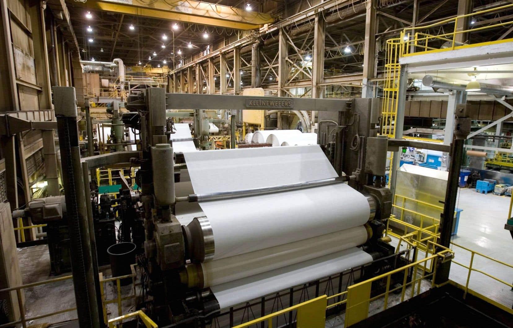 Kruger compte se procurer une nouvelle machine à papier.