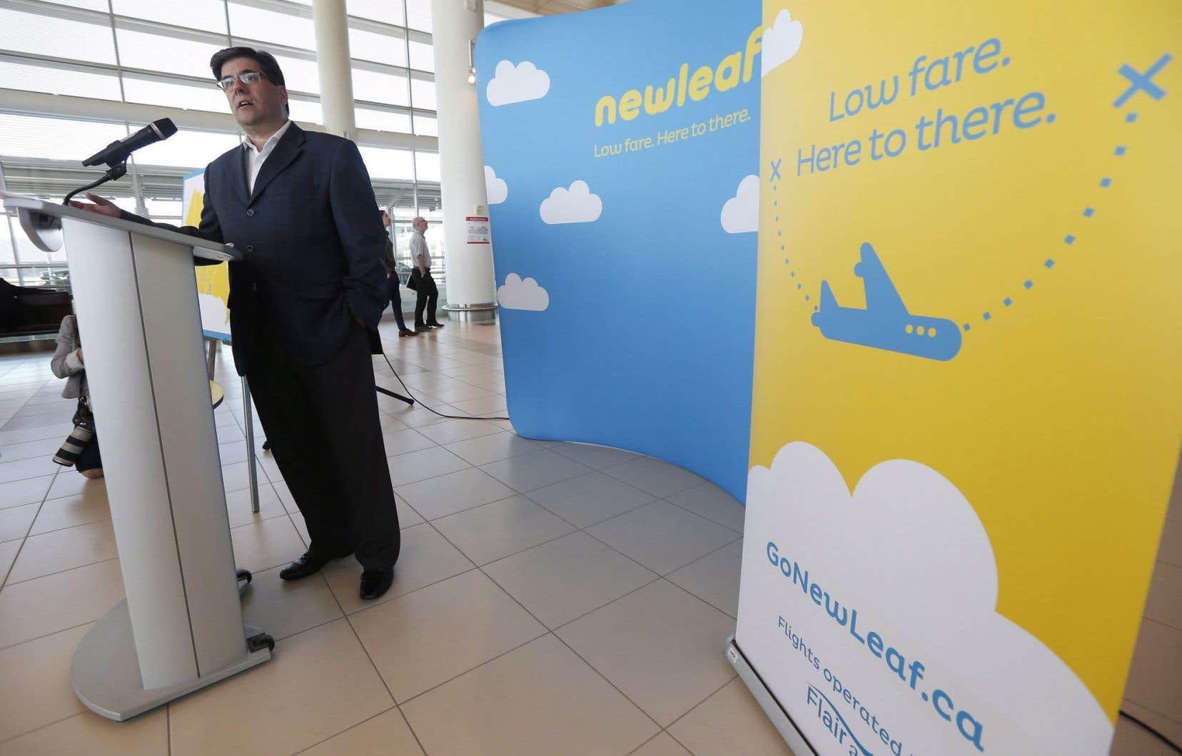 Jim Young, le président-directeur général du transporteur aérien NewLeaf