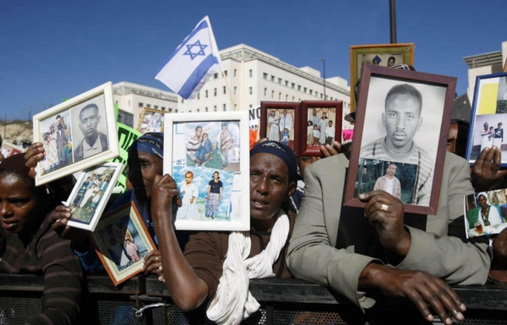 Des immigrants éthiopiens ont manifesté hier devant les bureaux de Benjamin Nétanyahou.