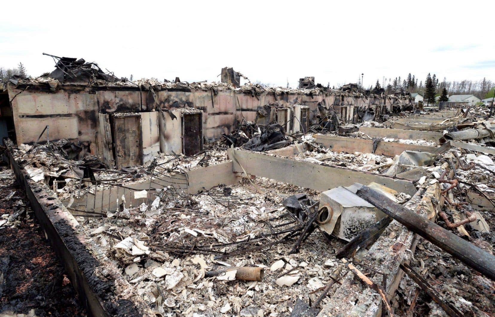 Les incendies qui ont frappé Fort McMurray en mai dernier ont laissé certains pans de la ville en ruine.