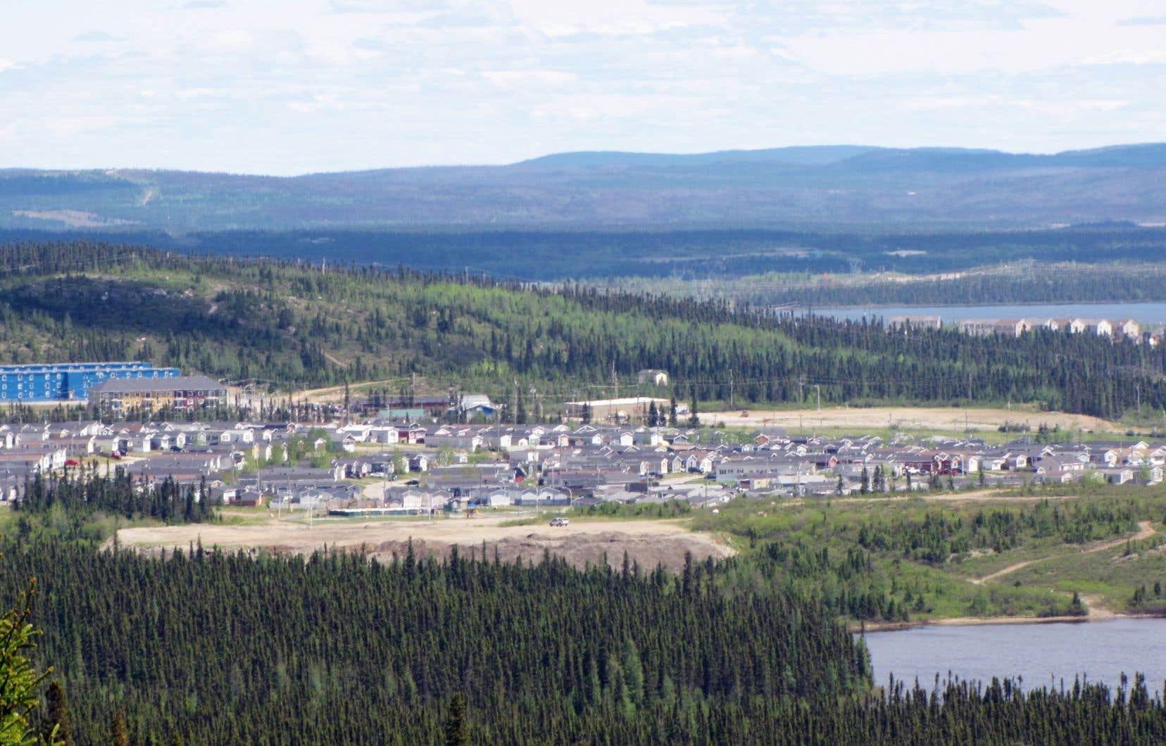 La ville de Labrador City, à Terre-Neuve-et-Labrador