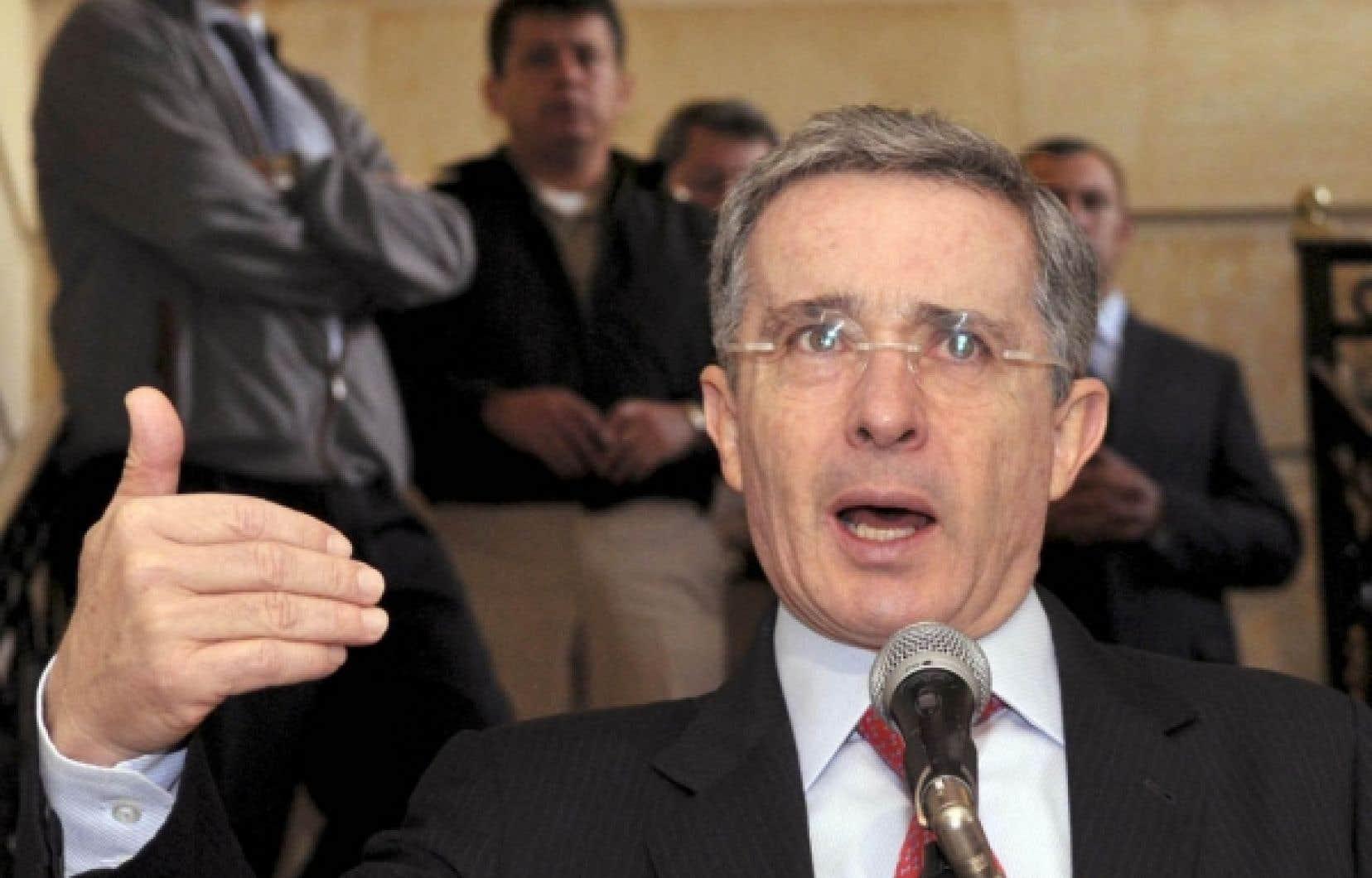 Le président de la Colombie, Alvaro Uribe