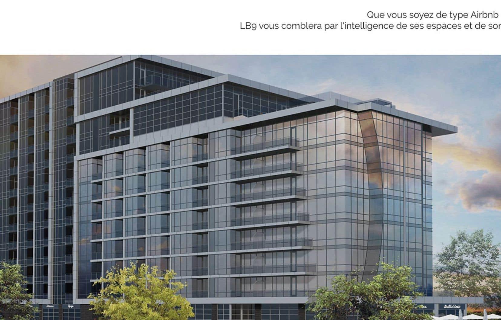 La publicité du projet Condos LB9