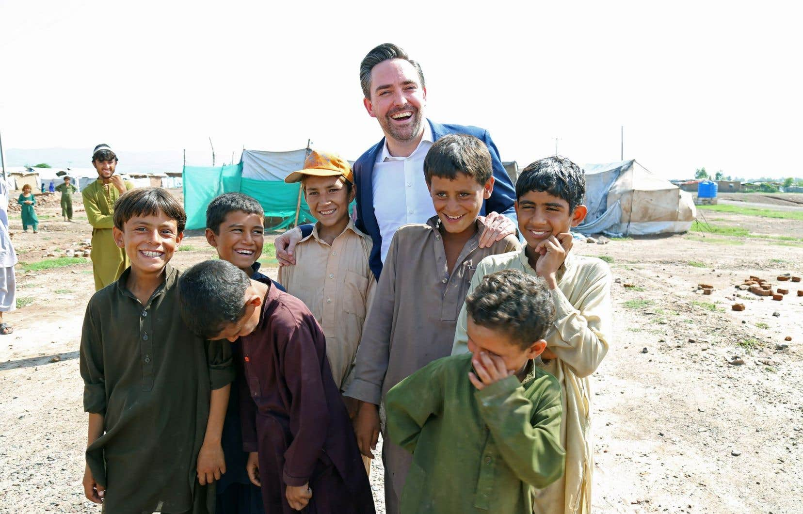 Marc-André Franche, photographié au Pakistan. Il affirme que sa nomination au siège de l'ONU est une «pause» dans son parcours sur le terrain.