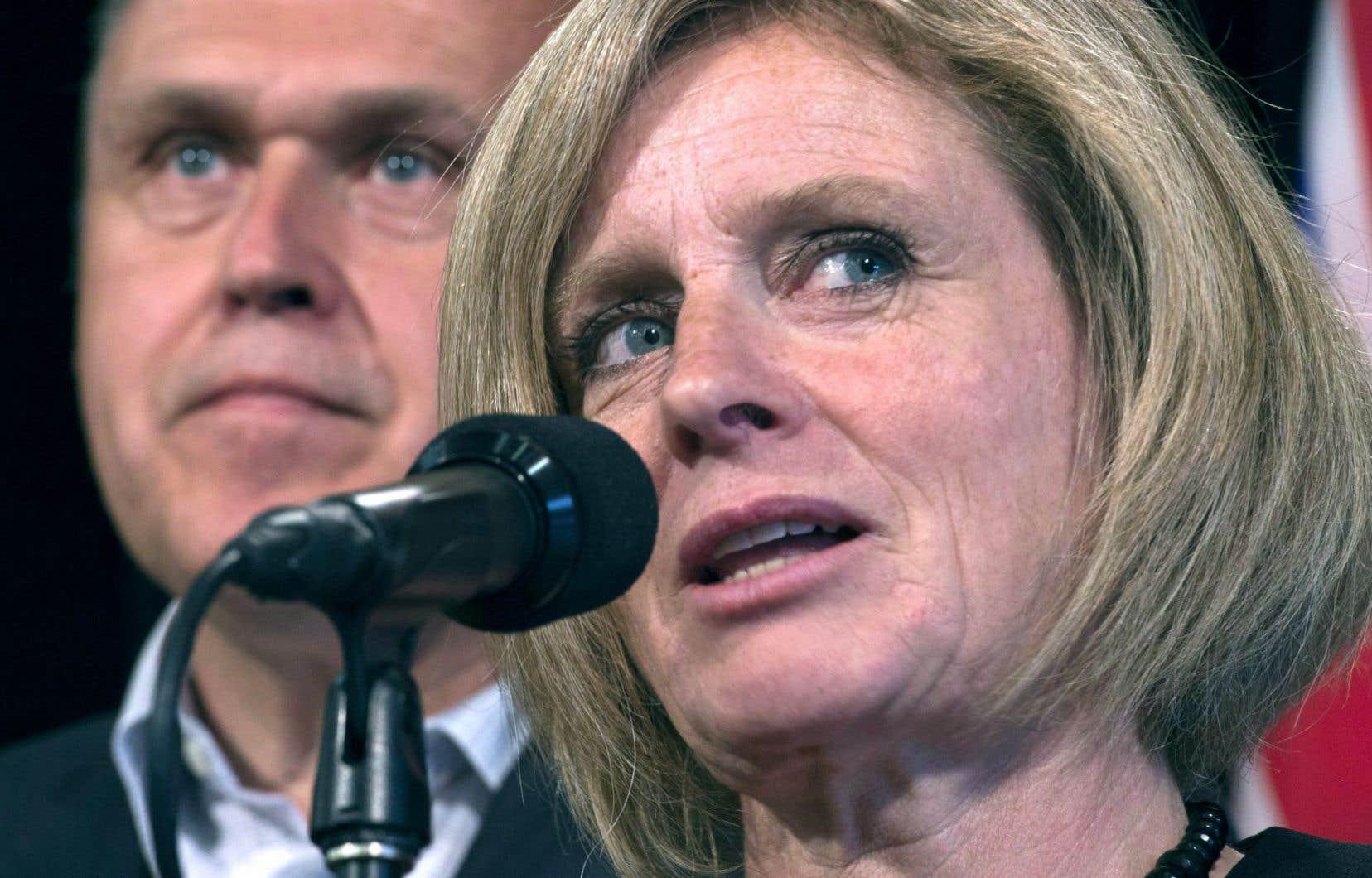 La première ministre et chef du NPD albertain, Rachel Notley