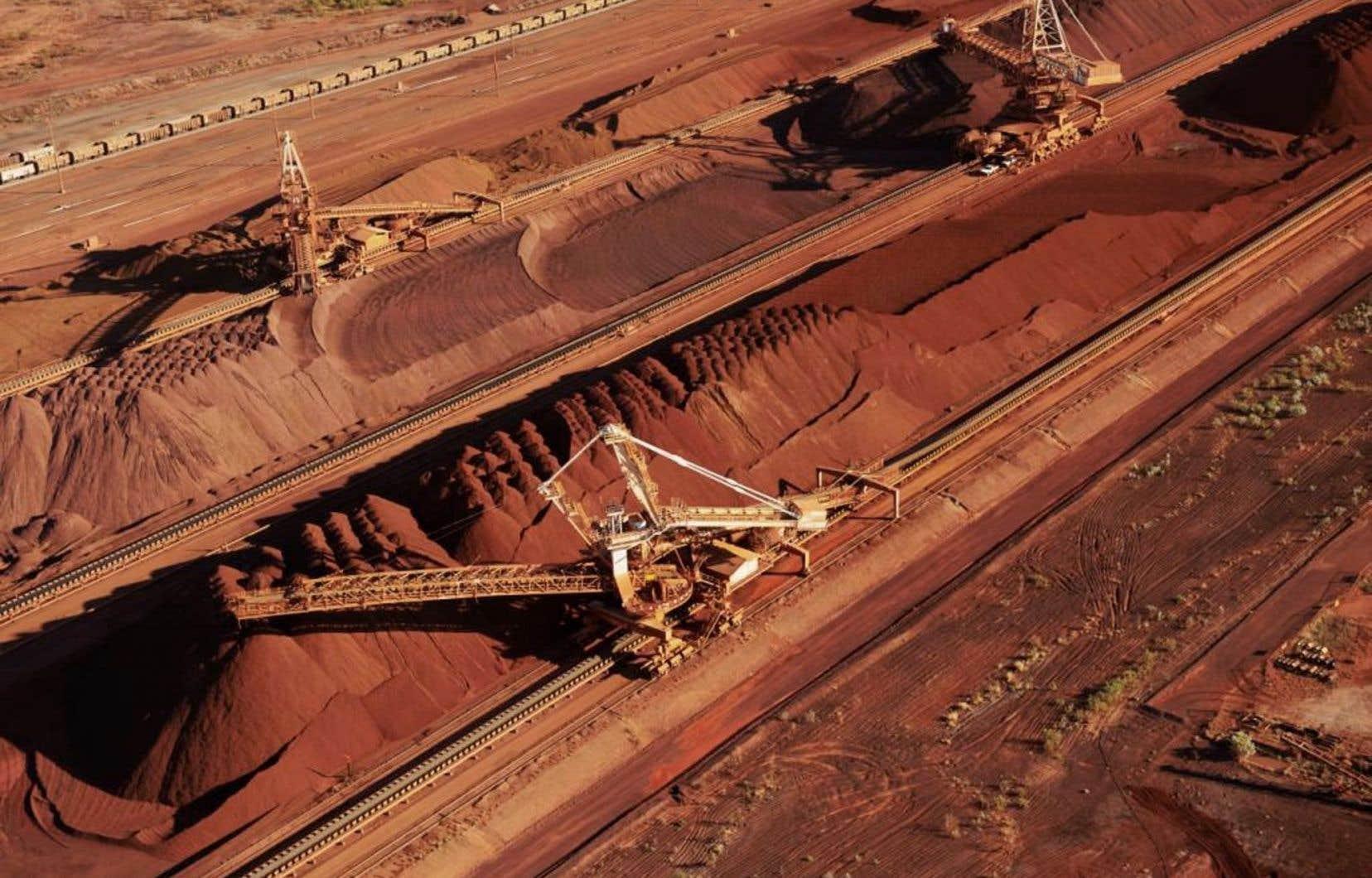 Mine de BHP Billiton dans l'ouest de l'Australie
